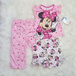 Disney Minnie Mouse 3 Piece PJ Set 2t